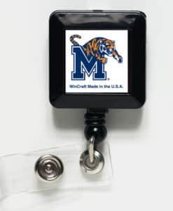 Memphis Tigers White Retractable Badge Holder