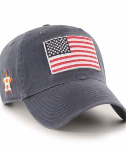 Houston Astros 47 Brand Heritage Vintage Navy USA Flag Clean Up Adjustable Hat