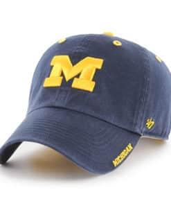 Michigan Wolverines 47 Brand Navy Ice Clean Up Adjustable Hat