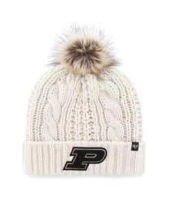Purdue Boilermakers Women's 47 Brand White Cream Meeko Cuff Knit Hat
