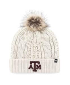 Texas A&M Aggies Women's 47 Brand White Cream Meeko Cuff Knit Hat
