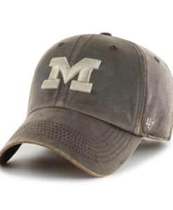 Michigan Wolverines 47 Brand Brown Oil Cloth Clean Up Adjustable Hat