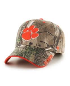 Clemson Tigers 47 Brand Realtree Camo Frost MVP Adjustable Hat