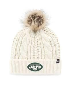 New York Jets Women's 47 Brand White Cream Meeko Cuff Knit Hat