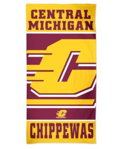 """Central Michigan Chippewas 30"""" x 60"""" Cooperstown Spectra Beach Towel"""